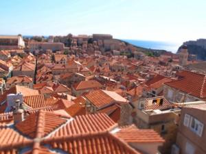 Dubrovnik form the walls